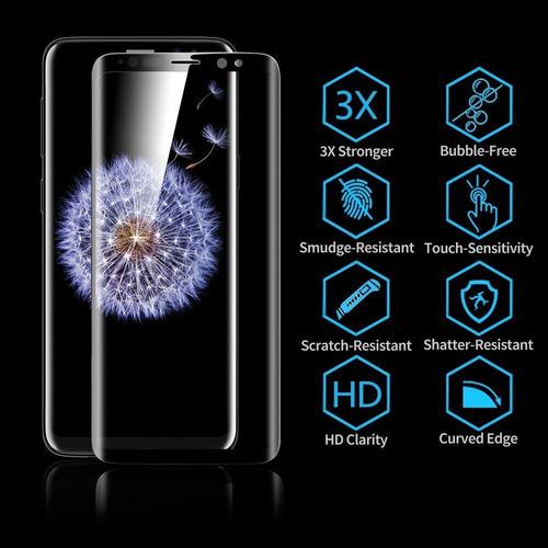 2-pack galaxy s9 protector de pantalla 9h dureza anti-finge