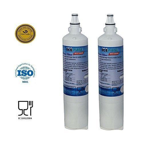 2 pack - icepure filtro de agua para reemplazar lg, lg prem