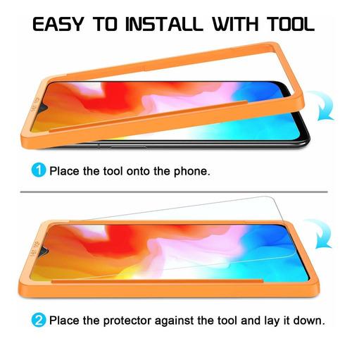 2 pack protector de pantalla para oneplus 6t sparin templado