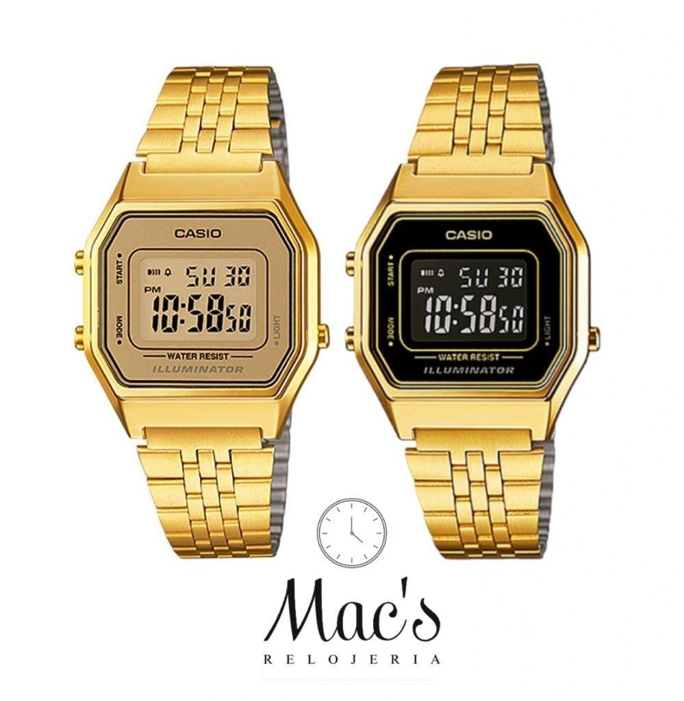 Relojes 2 Pack Casio La680wga Dama Ajustable Dorado Para 0PnwOk