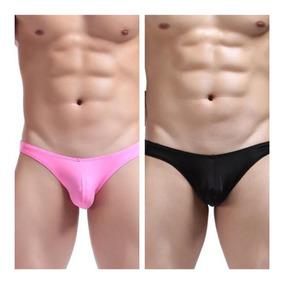bdbde828a27d 2 Pack Sexy Trusas Slip Bikini Hombre Basic En Rosa Y Negro