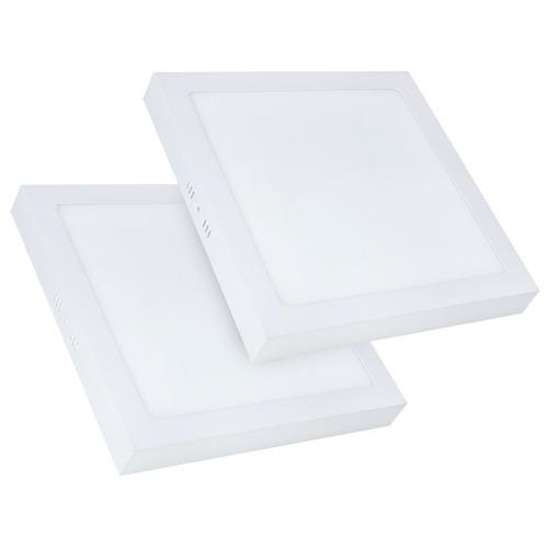 2 painel plafon led branco frio 18w sobrepor quadrado teto