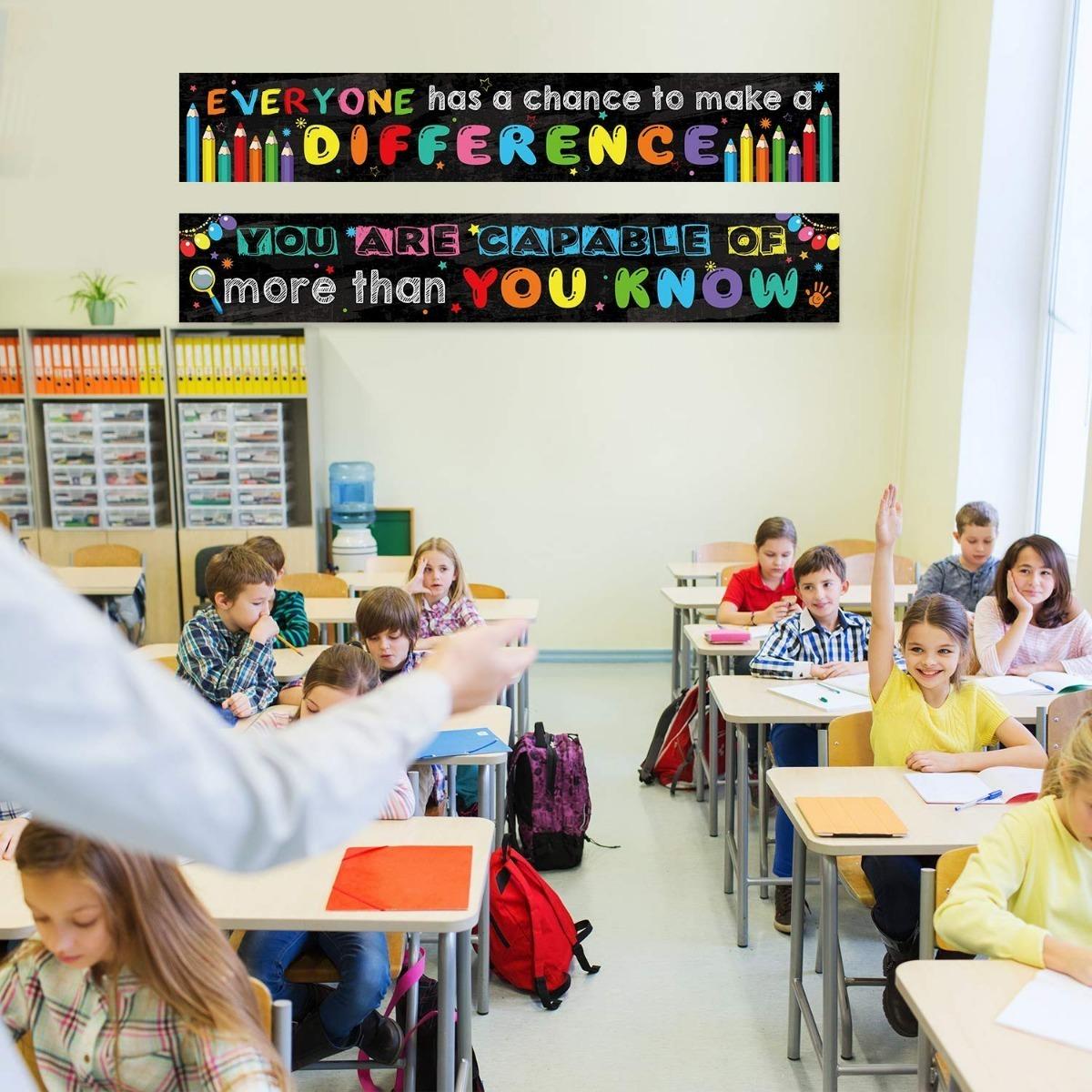 2 Pancartas Motivacionales Para El Aula Salon Clases Ingles