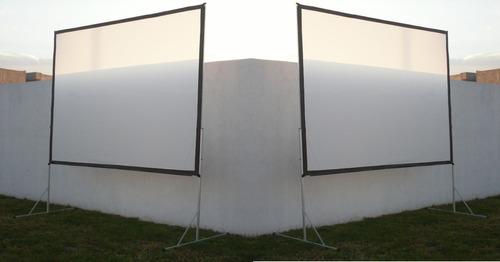 2 pantallas de proyeccion 3x2 american screens dual pack