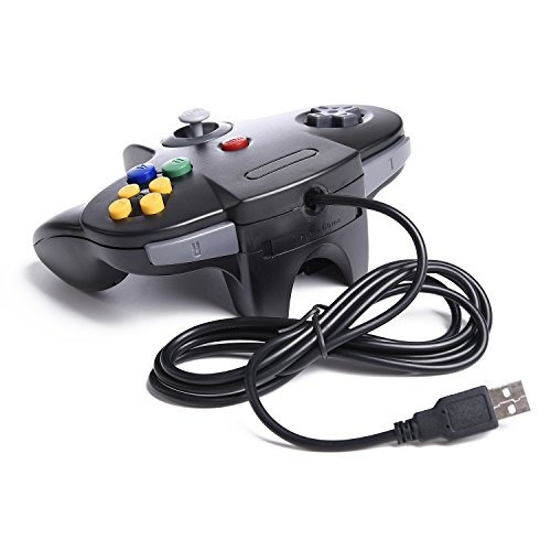 2 paquete controlador clásico n64, innext n64 wired usb ord