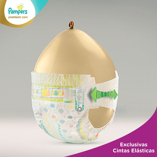 2 paquete pañales pampers premium care 136 unidades talla xg