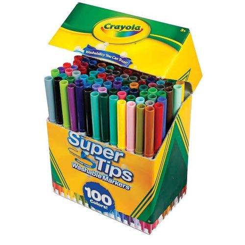 2 paquetes crayola super tips 100