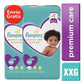 2 Paquetes Pañales Pampers Premium Care 136u. Talla Xxg