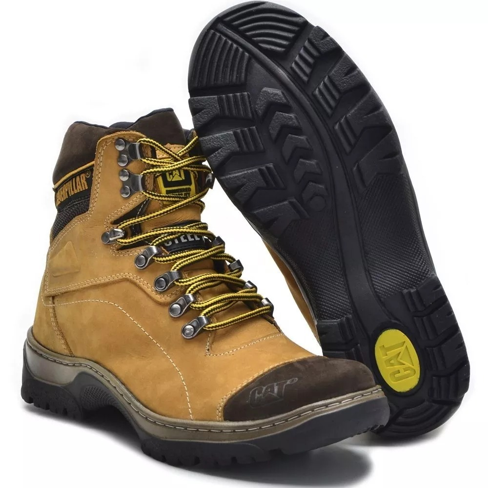 e1f9bba7 2 Par Bota Caterpillar Steel Toe Masculina 2 Bota Kit R:r29 - R$ 257 ...
