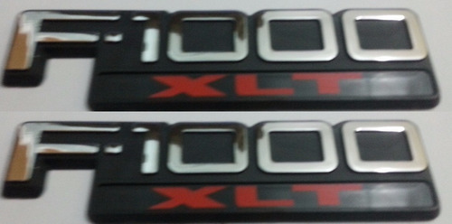 2 par dois emblemas f-1000 xlt f1000 xlt ford + brinde