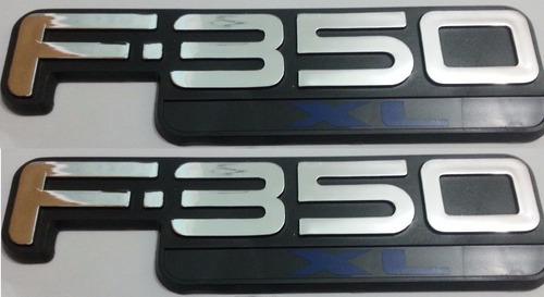 2 par dois emblemas f-350xl f350 xl ford + brinde