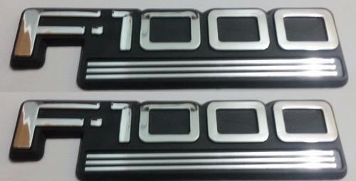 2 par dois emblemas f1000 f-1000 ford padrão origin + brinde