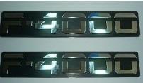 2 par dois emblemas f4000 f-4000 ford cromado + brinde