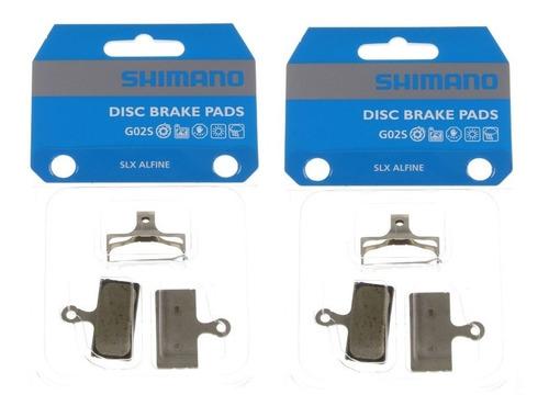 2 par pastilha freio shimano deore slx g02s m615 m8000 m785