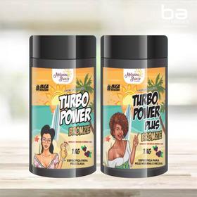 2 Parafina Turbo Power Clara E Morena Melanina Bronze 1kg