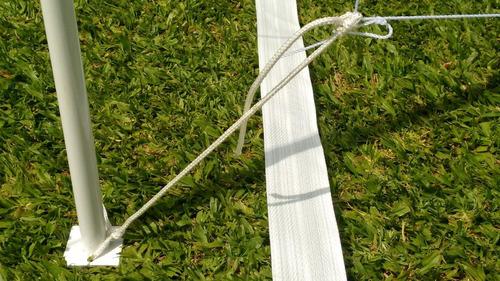 2 parantes postes de acero para cancha futbol tenis y voley
