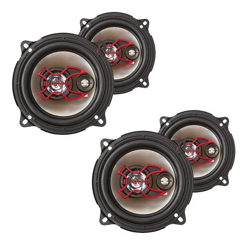 2 pares auto falantes bravox 5 polegadas + sensor de ré