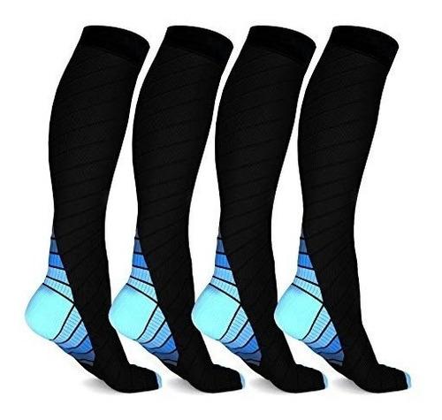 2 pares de calcetas medías compresión várices circulación