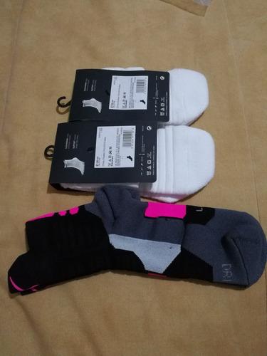2 pares de calcetas para basquetbol nike hyperelite talla l