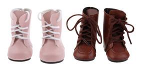 2 Pares De Cordones Pu Martin Botas Zapatos Para Muñecas