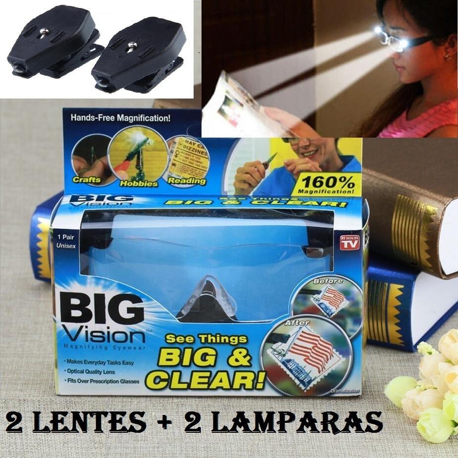 7bdedf4f72970 2 Pares De Lentes Gafas De Lupa Big Visión Mas 2 Lamparas -   730.00 ...