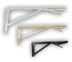 2 pares de suporte dobrável para mesa de parede 41cm zincado