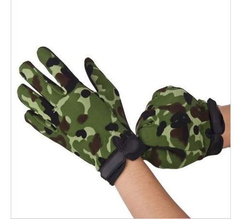2 pares guantes tacticos airsoft woodland