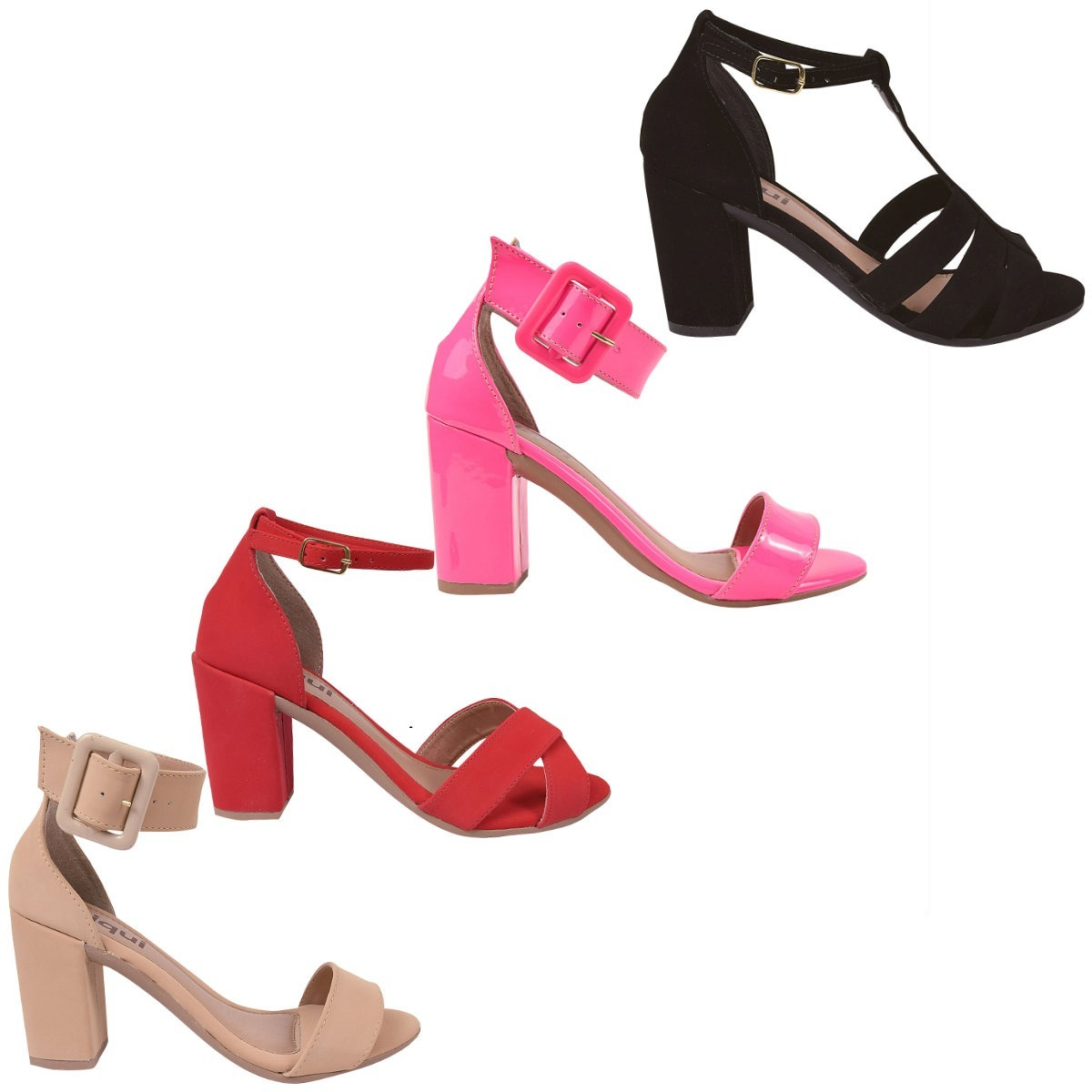 ccde85667 2 pares sandalia feminina salto alto grosso snp2. Carregando zoom.