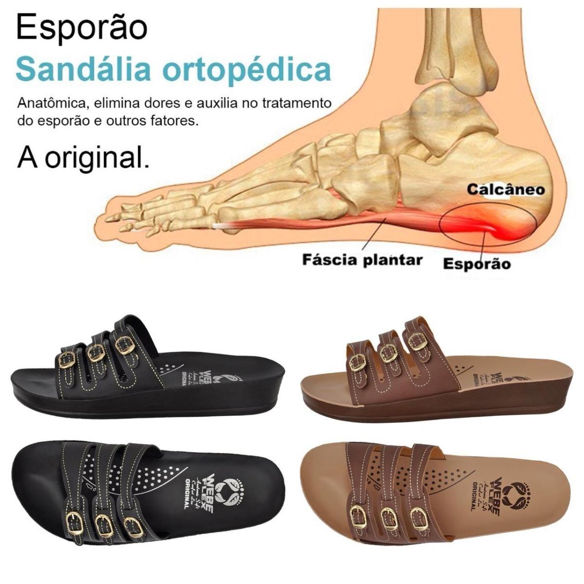 c0982eef4a 2 Pares Sandália Ortopédica Anatômica Para Esporão Webe Flex - R  80 ...
