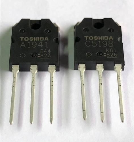 2 pares transistor 2sa1941-2sc5198 toshiba carta registrada