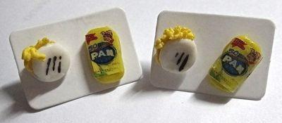 2 pares zarcillos accesorios venezuela patria harina pan
