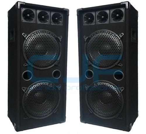 2 parlante columna doble 10 1000 watts pmpo profesional cjf