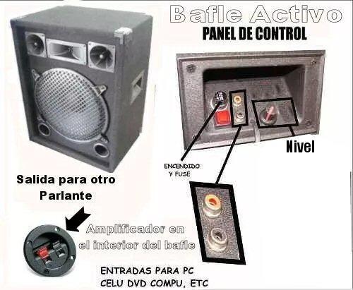 2 parlantes potenciados amplificador incorporado  mixer usb