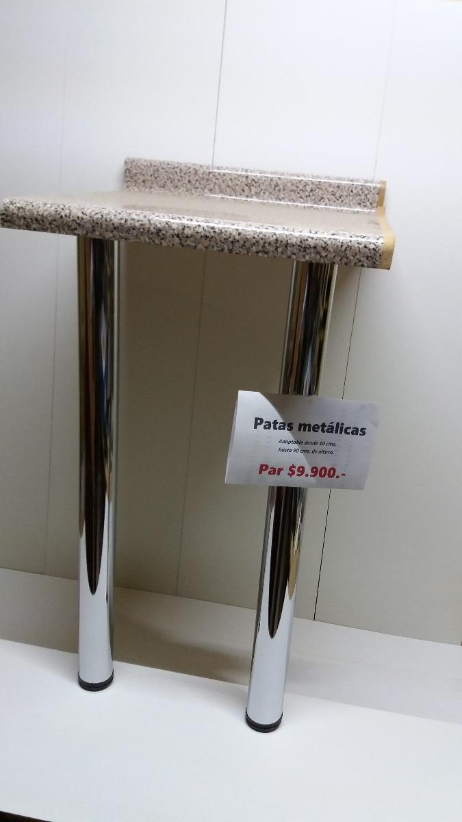 Patas Metalicas Para Muebles : Patas metálicas para mesones y muebles de cms hasta