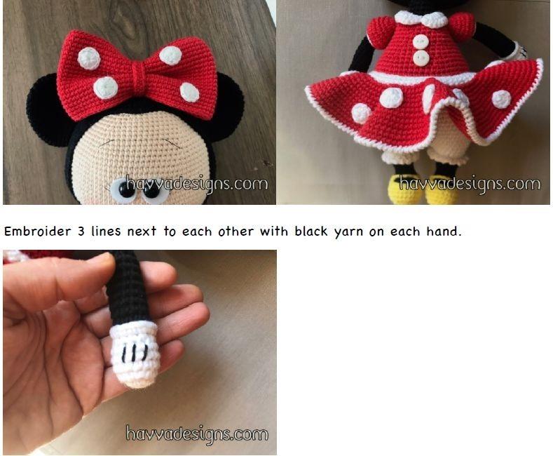 2 Patrones Crochet Amigurumi Minnie Mickey Hermosos! Inglés - $ 40 ...