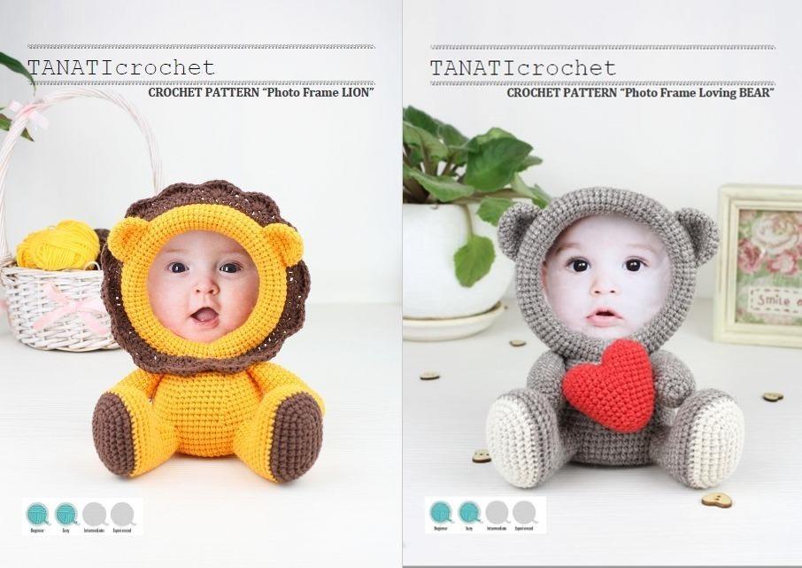 2 Patrones Portaretratos Amigurumis Para Tejer Crochet - $ 40,00 en ...