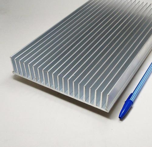 2 pç dissipador calor aluminio 17,2cm largura c/ 85cm