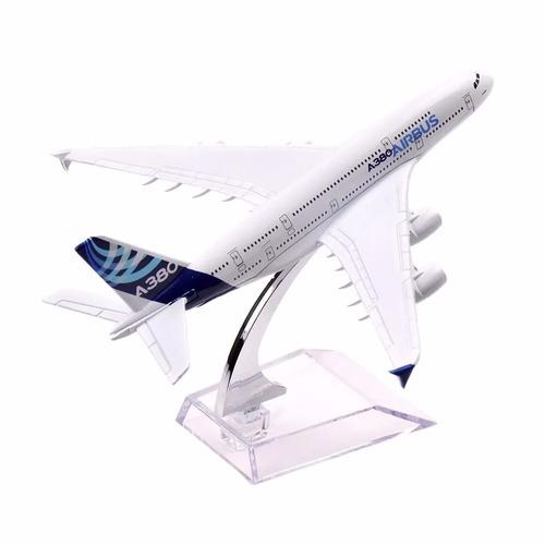 2 pç miniatura aviao metal boeing airbus varios modelos 16cm
