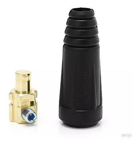 2 pçs engate rápido 9mm conector macho cabo máquina solda