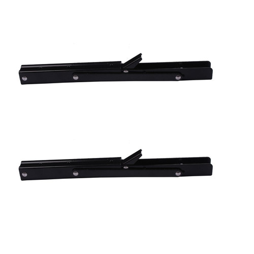 2 pcs negro pintura plegable shelf banco mesa plegable estan