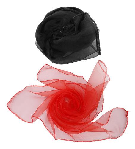 2 pcs pañuelo de mujeres bufanda de gasa utensilos de