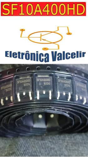2 pçs sf10a400hd - sf 10a400hd diodo smd 10a 400v  original