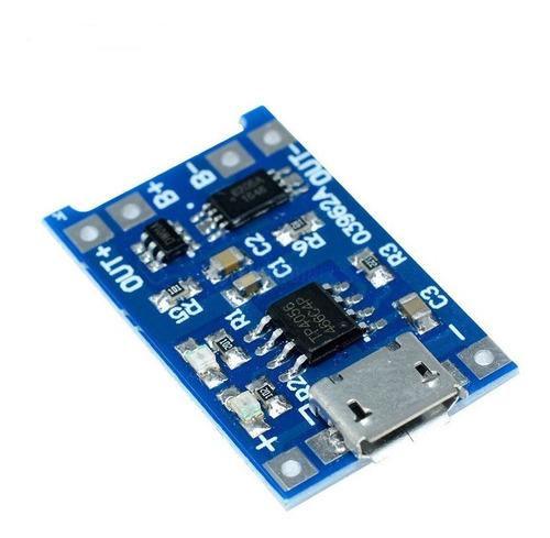 2 pçs tp4056 5v 1a carregador proteção baterias lítio 4.2v