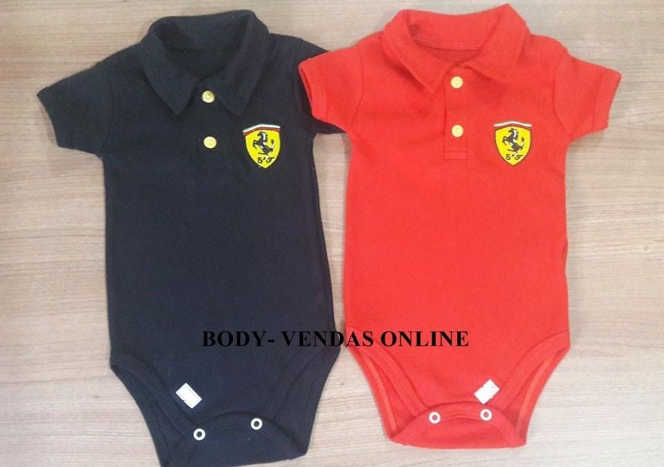 2 Peças Body Bebê Gola Polo Ferrari Menino - R  55 5f84b713d06