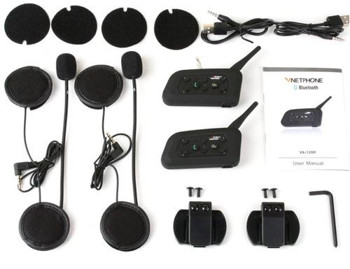 2 peças intercomunicador capacete moto intercom v6