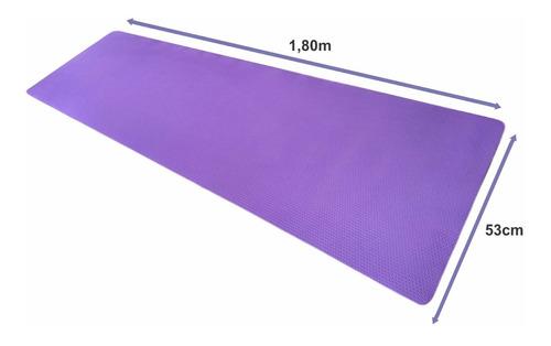 2 peças tapete esteira eva yoga ginástica pilates 1,80mx53cm