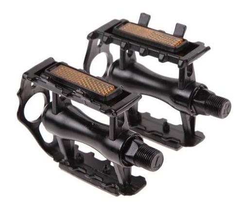 2 pedales aluminio con reflejante para bicicleta negro d1145