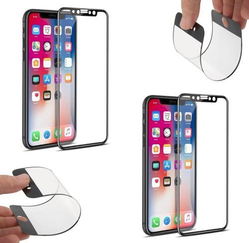 2 películas 5d nano gel para iphones 6 6p 7 7p 8 8p x xr xs