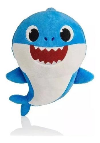 2 pelucia baby shark azul rosa tubarão babyshark musica