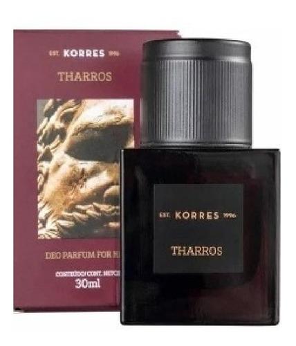 2 perfumes masculino tharros korres avon 30ml cada